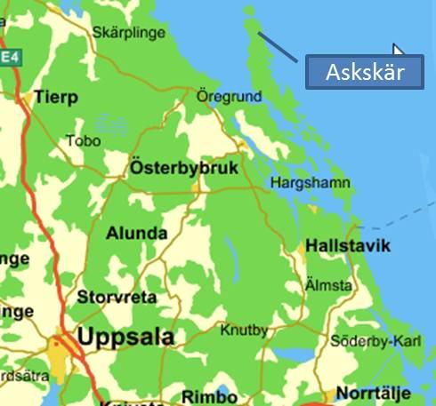östhammars kommun karta Hyra stuga   Hitta hit östhammars kommun karta